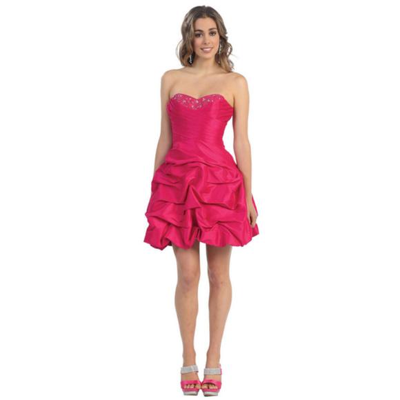 c1403ff0a33f Short Fuchsia Homecoming Prom Dress Cocktail. M_5a78506700450f6d9a265350